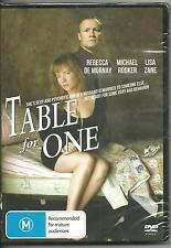 Table for One Rebecca De Mornay Michael Rooker Lisa Zane DVD R4 PAL