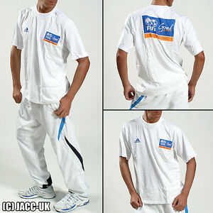 NEW L Mens ADIDAS FIFA GOAL White Football Shirt Footbal Soccer Gym Summer TV338