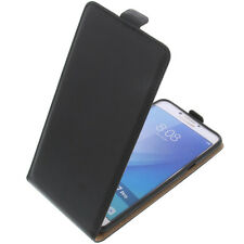 Funda para Samsung Galaxy C7 Pro Protectora Teléfono Móvil con Tapa Negro