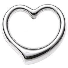 Echte Edelmetall-Anhänger ohne Steine aus Weißgold mit Liebe & Herzen