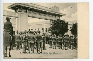 Worcester Battalion WHITE CITY Amusement Park MA USA 1911 Rotograph Co Postcard
