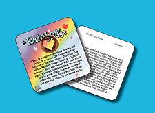"""Rainbow Bridge"" Pet Loss Memorial Poem / 1 Heart Coin / Carded Penny - sku 977"