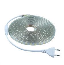 Striscia  LED SMD5050 per esterno  IP67 220V 6mt 10mt 20mt luce bianca 60led/mt