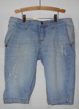 Womens's Decree Brand Bermuda Denim Destressed Shorts SZ 9