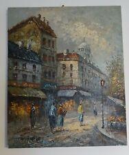 tableau huile toile PARIS Montmartre W.BURNETT