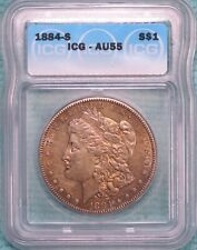 1884-S AU-55 Morgan Silver Dollar Almost Uncirculated