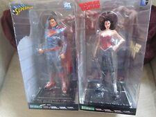 kotobukiya 1/10 dc comics superman + wonder woman New