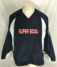 Super Bowl XXXVIII Reebok Pullover Houston On Field Team Apparel Navy Men's XXL