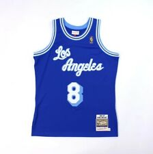 LOS ANGELES LAKERS KOBE BRYANT MITCHELL & NESS BLUE 8 JERSEY 96 97 AUTHENTIC