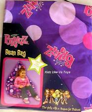 ~ GIRLS KIDS PURPLE SPOTTED BEAN BAG / CHAIR
