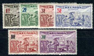 REUNION 1943 Yvert PA 18-23 ** POSTFRISCH TADELLOS FLUGPOST SATZ (F4023