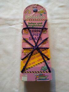 Bandolino Spiel Set.4, Sehen und vergleichen Mit Lösungsschnur Lern Spiel (1