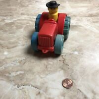 1972 VINTAGE FISHER PRICE LITTLE PEOPLE TRACTOR TRUCK Cowboy As Is Toy