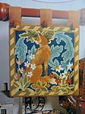 4310]Tapestry Chart-Fox in the Wild, Flowers Leaves