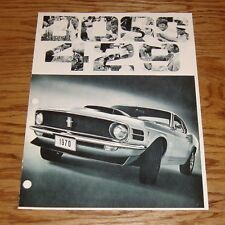 1970 Ford Mustang Boss 429 Sales Brochure 70
