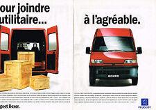 PUBLICITE ADVERTISING 094  1994  PEUGEOT  UTILITAIRE  BOXER ( 2 pages)