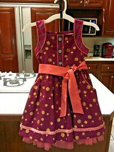Girl's Multicolored Dress/Jumper by Matilda Jane, size 6
