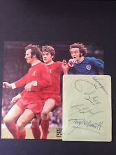 More details for liverpool signed emlyn hughes x2 tommy smith picture autograph page &reverse 11