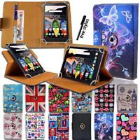 "Folio Rotating 360 Stand Leather Cover Case For Various 7"" 8"" 10"" Lenovo Tab"