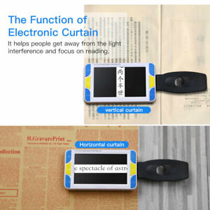 """Handheld 5"""" Digital LCD Electronic Low Vision Video Magnifier Reading Aid"""