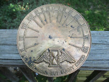 """Brass Sundial I count none but sunny hours # 28 for Pedestal w/ pointer 9 3/8"""""""