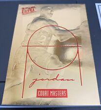 Rare 96-97 Michael Jordan 23 KT GOLD FLEER ULTRA COURT MASTERS #2405 Certificate