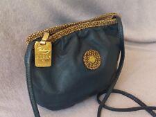 3b42b78bf91d Borbonese by Redwall vintage crossbody style handbag blue with animal print  trim