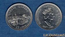 Canada Confédération - 25 Cents 1992 Guebec Québec Bateau sur l'eau Boat on wate