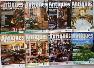 Antiques Magazines 8 issues Jan-Jun 2008, Russian Silver, Gillows, Toby Jugs etc