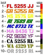 "CUSTOMIZE YOUR BOAT JETSKI REGISTRATION NUMBER LETTERING  DECALS(2X) 3"" x 20"""