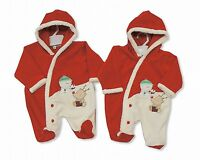 Baby Christmas Hooded All In One Romper Outfit Clothes Gift Unisex