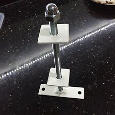 1x  cast iron radiator wall stay  bracket  powder coated, white,
