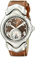 New Oakley Jury brown dial leather watch gmt blade judge timebomb mm
