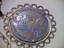 Kaiser Taler Maria Theresia 1780 Silber gefasst an langer Kette Silber 835