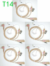 5x 2pin Beige Surveillance Kit Tube Headset Earphone Earpiece for Motorola Radio