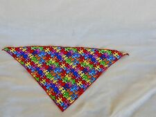 Two Dog bandanas, 100% cotton, colorful, excellent condition.