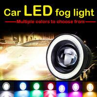 """2x 3/3.5"""" LED Car RGB Halo Rings Angel Eyes COB Projector Flash Fog Light  AN0"""