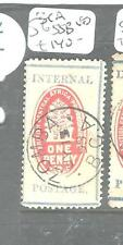 BRITISH CENTRAL AFRICA (P2605B) CHECK STAMP SG 55B  VFU SON ZOMBA