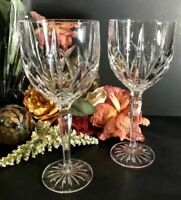 2 - Waterford Marquis Crystaline Brookside Red Wine glass LARGE