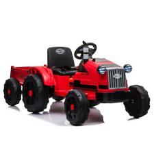 12V Kids Ride On Tractor Car Toys Battery Light Music Trailer w/ Remote Control