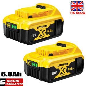 2X 18V 6.0Ah Battery Li-Ion For DEWALT DCB184 XR Slide DCB182 DCF885 DCC785 NEW