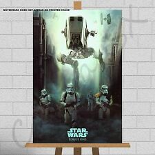 Star Wars Rogue One Canvas Print Picture Wall Art Storm Trooper AT-ST AT-AT Yoda
