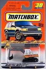 Matchbox MB 30 Excavator Mint On Card 1999