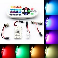 2X 15 LED T10 Festoon RGB Car Interior Dome Reading Light Lamp + Remote Control