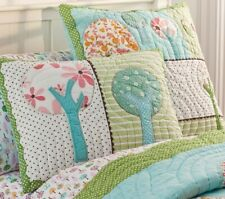 Pottery Barn Kids Brooke Woodland Owls 2 standard quilted pillow shams