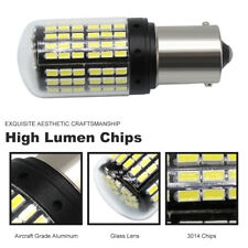 2X BA15S 1156 3014 LED 144SMD Canbus DRL Car Day Running Light Bulb Super White