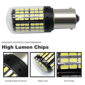 2X BA15S 1156 3014 LED 144SMD Canbus DRL Car Day Running Light Bulb Super White