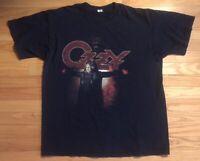 Vintage Ozzy Osbourne 2007 Black Rain Anvil Tour Shirt Size XL