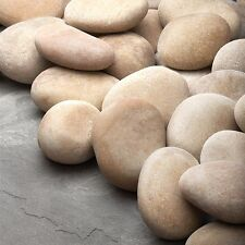 20 LB  Ivory Tan Stones for Fireplace & Fire Pits Natural Heat Resistant Stones