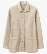 Toast Organic Denim Jacket, Beige, Size 14, BNWT